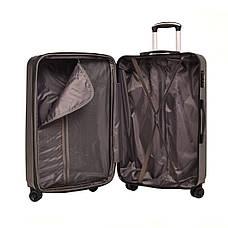 Чемодан OULANDO пластиковый, большой, с расширением, 4 колеса 47х70х30(+3) чёрный ксЛ516-28ч, фото 3