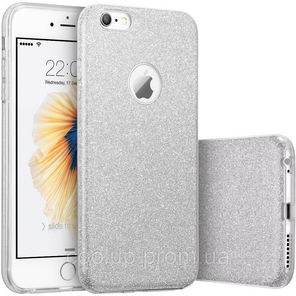 Чехол-накладка TOTO TPU Shine Case iPhone 7 Silver, фото 1