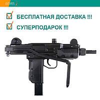 Пневматический пистолет Gletcher UZM Mini Uzi Blowback Мини Узи автоматический огонь блоубэк 100 м/с, фото 1