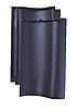 Керамическая черепица Meyer-Holsen модель Vario цвет ангоб черный-сланцевый