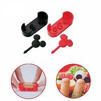 Формы Микки для детских завтраков ( набор формочек для украшения бутербродов с вилками для канапе )