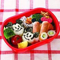 Формы Микки для детских завтраков ( набор формочек для украшения бутербродов с вилками для канапе ), фото 3
