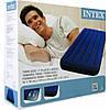 Матрас надувной велюровый синий ТМ INTEX
