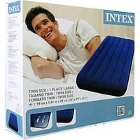 Матрас надувной велюровый синий ТМ INTEX, фото 1