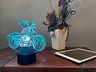 "Ночник 3D Светильник ""Мотоцикл 5"" 3DTOYSLAMP, фото 1"