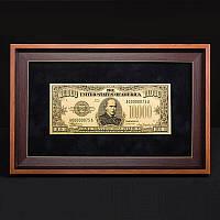 Подарочная купюра в рамке 10000$ BST 420006 36х23х2 см.
