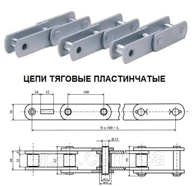 Цепи МС 28-1-80-3 тяговые пластинчатые