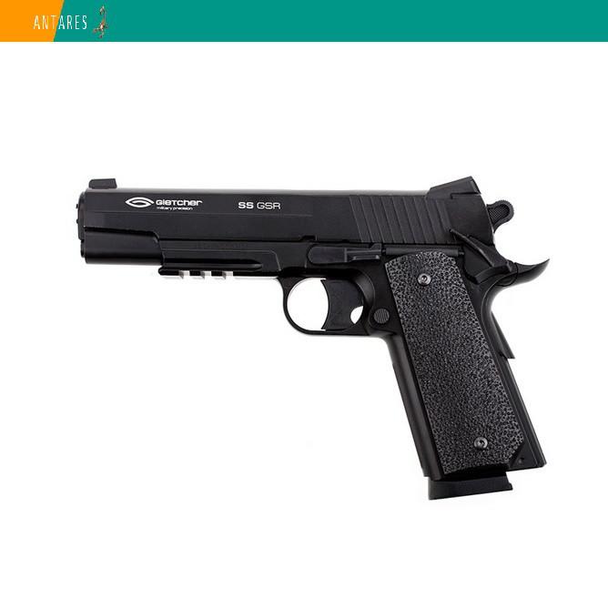 Пневматический пистолет Gletcher SS GSR Sig Sauer GSR 1911 Colt Зиг Зауэр Кольт газобаллонный CO2 120 м/с