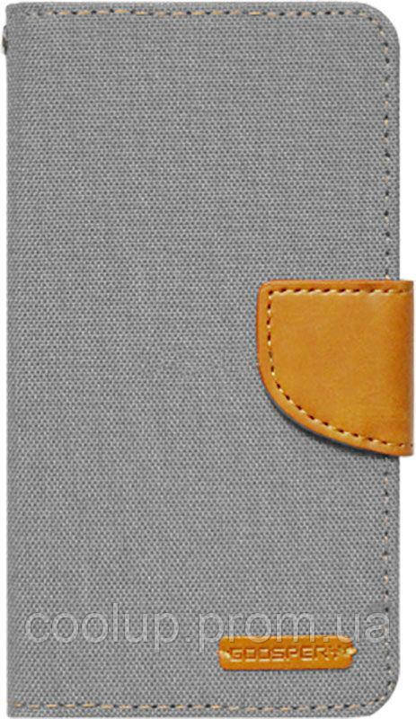 Чехол-книжка Goospery Canvas Diary Universal 5.0'-5.5' Gray, фото 1