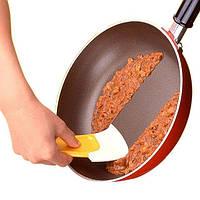 Силиконовая лопатка - скребок для посуды