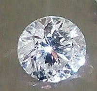 Бриллиант натуральный природный идеально белый чистый купить в Украине 4.9 мм 0.45 кт 3/4-3/5, фото 1