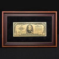 Банкнота подарочная в рамке 1000$ BST 420004 36х23х2 см.