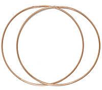 Золотые серьги кольца 70мм(Конго) 1200089