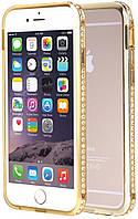 Бампер SHENGO SG03 Metal Bumper iPhone 6 Gold, фото 1