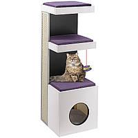 Игровой комплекс для котовTIGER Ferplast с драпкой. Мебель для кошек с полочками, когтеточкой и местом для сна
