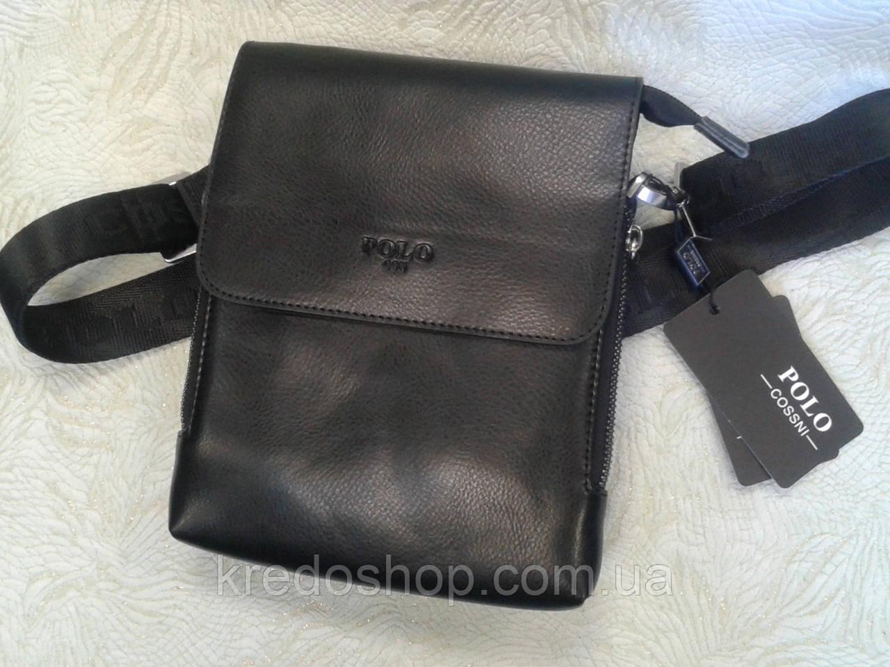 74cbd099b593 Сумка мужская на плечо черная стильная POLO : продажа, цена в Кривом ...