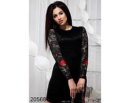 Черное платье из гипюра, фото 3