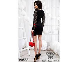 Черное платье из гипюра, фото 2