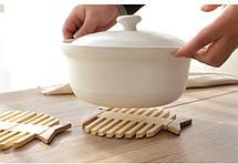 Подставка под горячее Бамбук ( подставка для горячей посуды ), фото 3