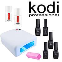 Стартовый набор для покрытия гель-лаком KODI Professional 8 мл + Лампа 36 Вт, №1