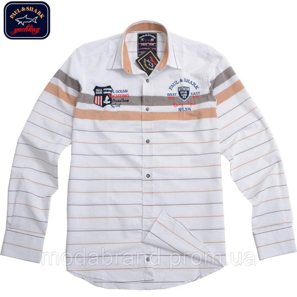 Стильные мужские рубашки ,Paul Shark-1351 бежевая  продажа, цена в ... ab778d8e0f9