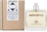 Tester Sergio Tacchini With Style. Eau De Toilette 100 ml/Тестер туалетная вода Серджио Тачини Виз Стайл 100мл