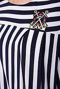 Женский летний костюм двойка Хельга широкая полоса / размер 48-56 / большие размеры, фото 3