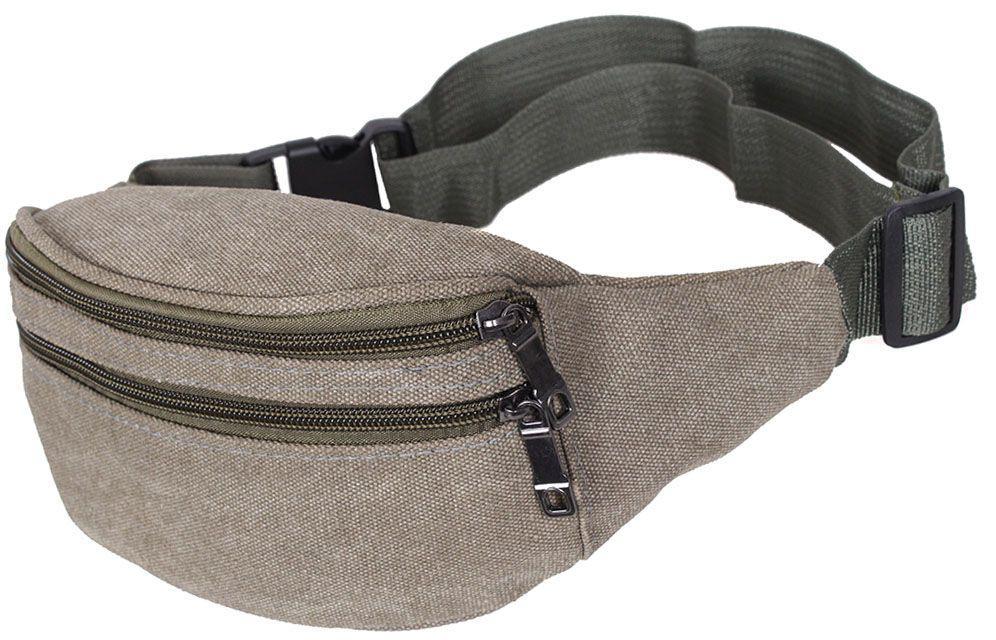Поясна чоловіча сумка з текстилю, Q001-4DBEIGE бежевий