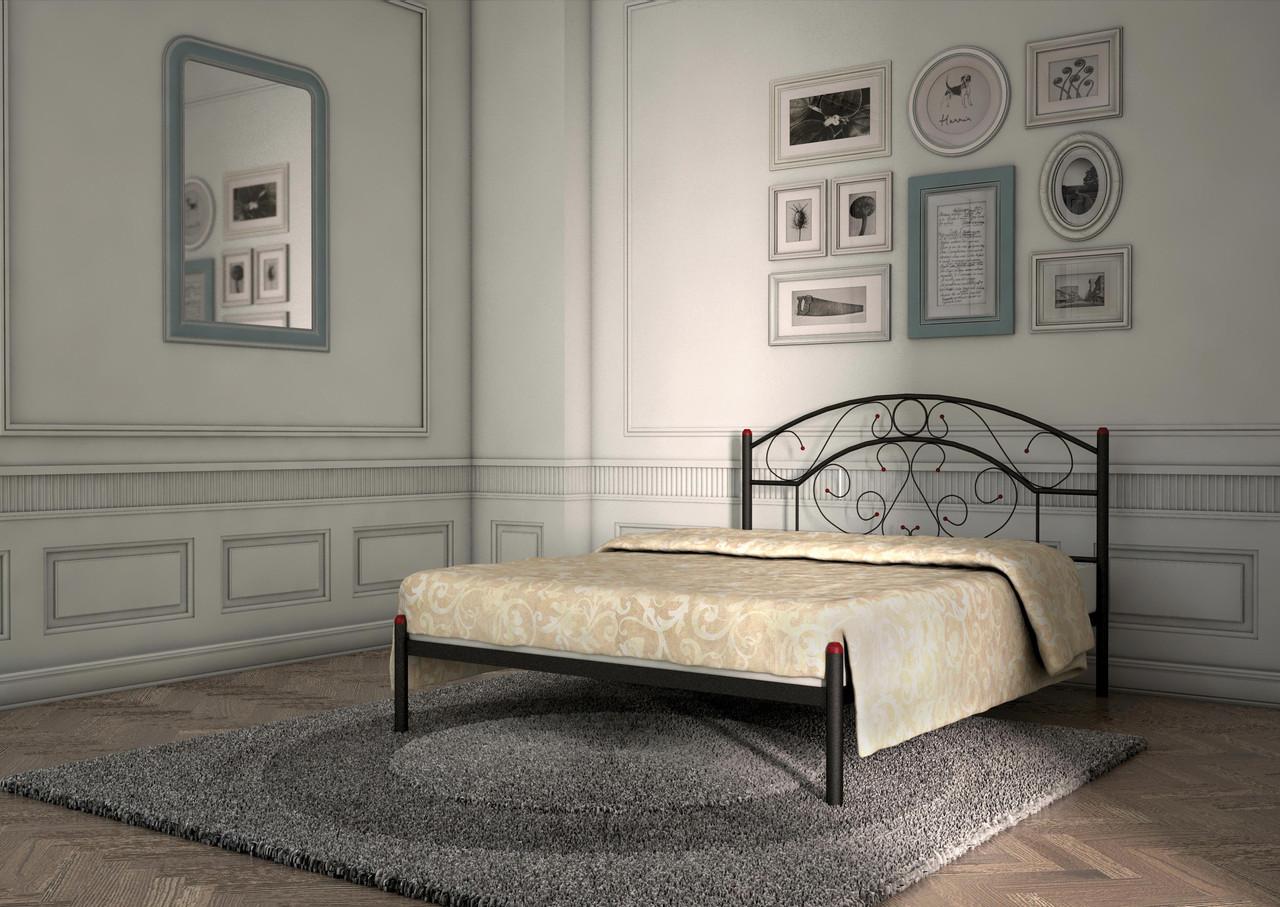 Кровать Скарлет черная 140*200 (Металл дизайн)
