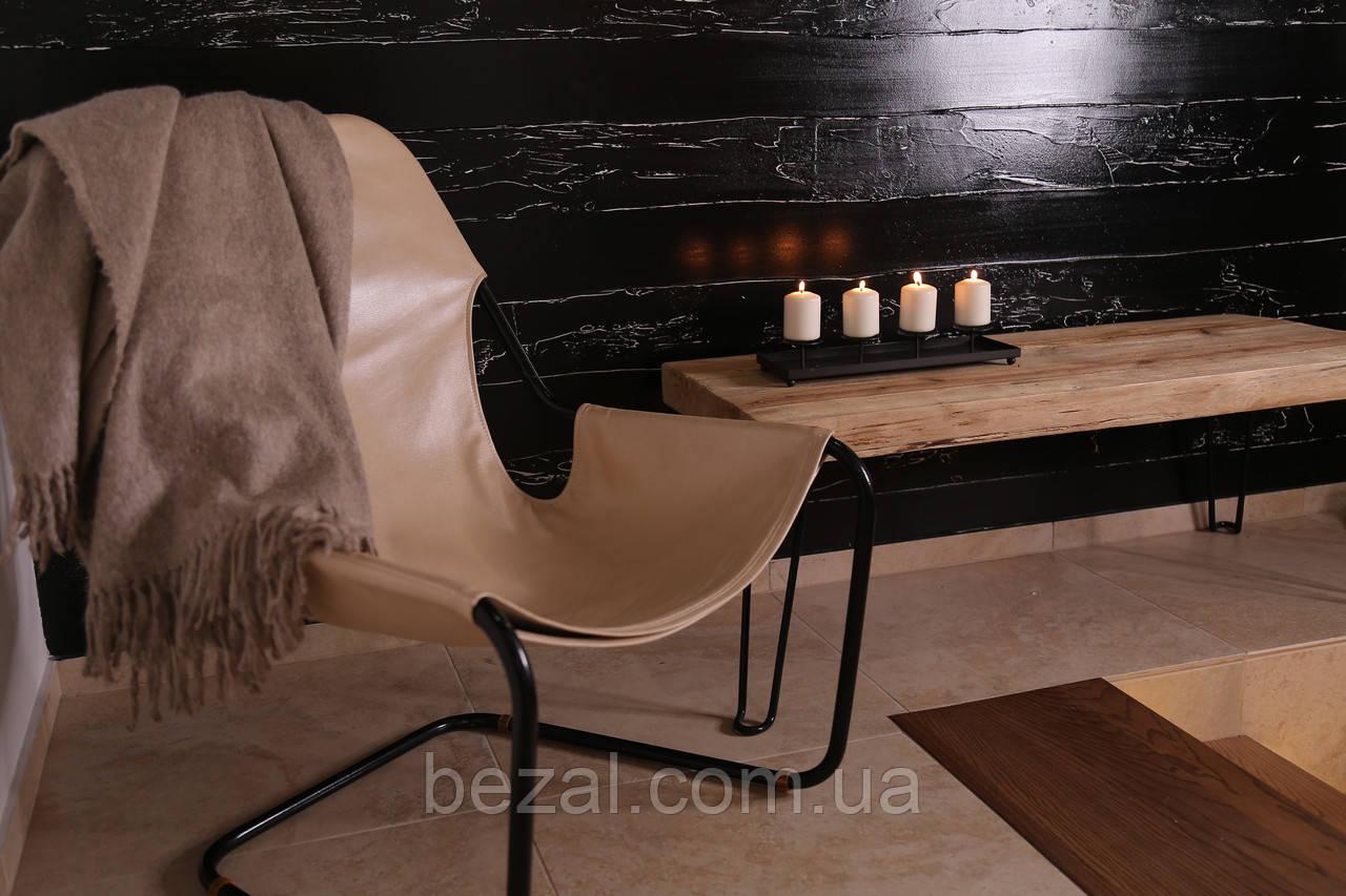 Кресло для отдыха в стиле лофт в коже