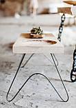 Столик журнальный на тонких ножках в стиле лофт, фото 4