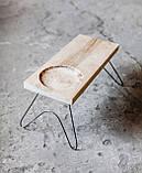 Столик журнальный на тонких ножках в стиле лофт, фото 5