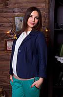 """Демисезонный пиджак для беременных """"Синий лен"""" р. 46-52 ТМ NowaTy 15010501"""