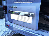 Хром накладка на планку багажника над номером (нерж) Hyundai santa fe II (хюндай санта фе) 2006-2012, фото 2