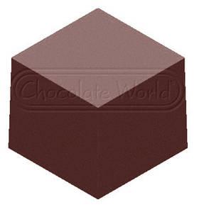 1000L20 Форма для шоколада Блок Chocolate World 23x23x20мм, 12 гр
