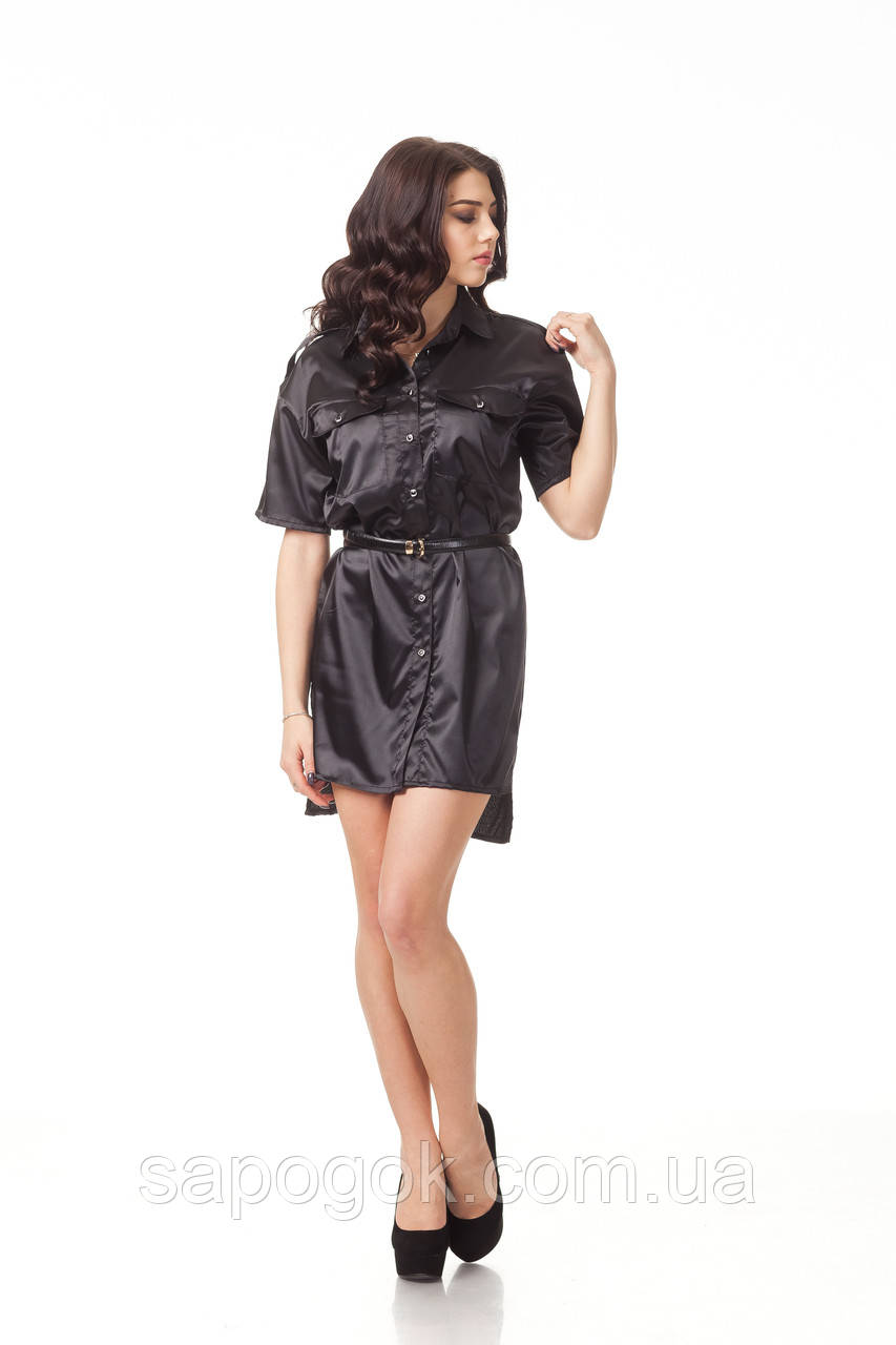 Шелковое платье рубашка. П112