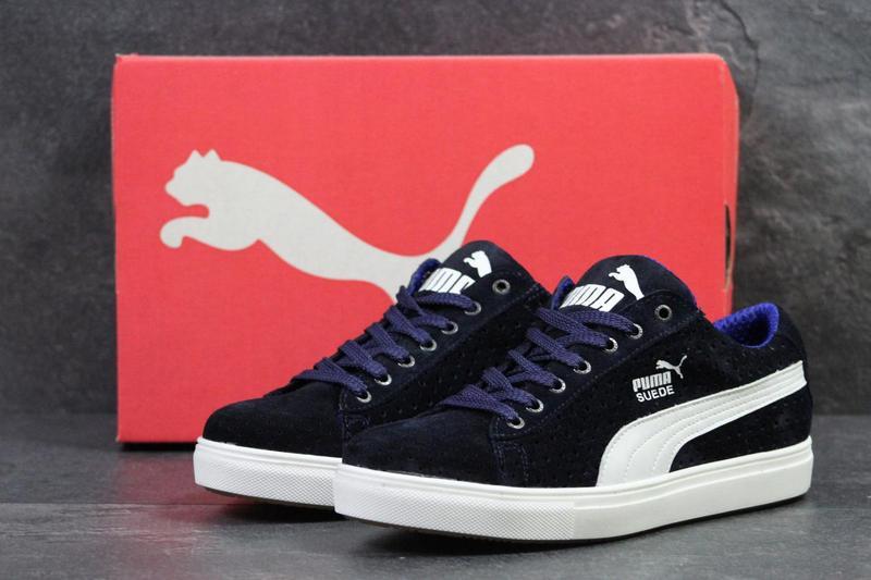 Мужские кроссовки в стиле Puma Suede, темно-синие   кроссовки мужские Пума  Суеде, b2b92ea4d46