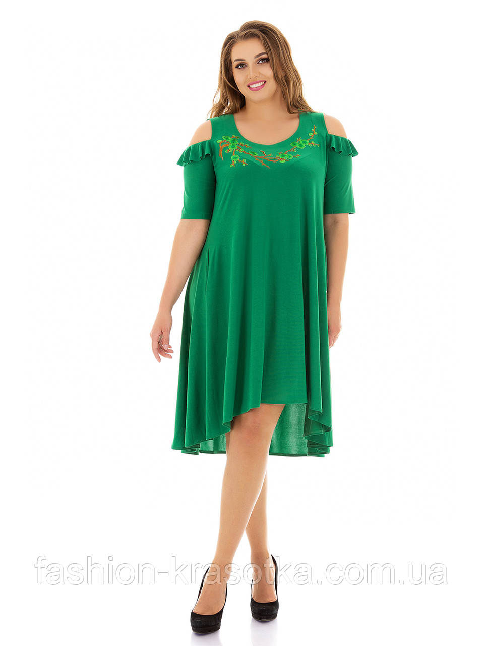 Нарядное женское платье больших размеров отшив под заказ