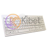 Клавиатура Extradigital ED-K101 White, USB, лазерная гравировка, ножничный механизм, 368 х 130 х 20 мм, 390 г (KUS7108)