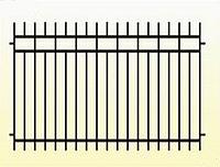 Металлические заборы вариант №2