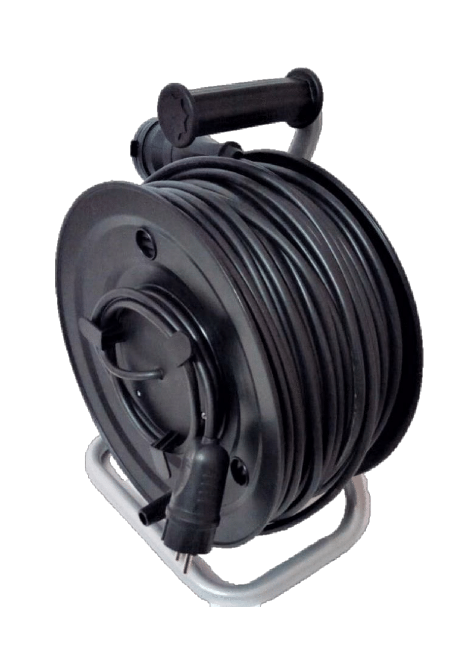 Электрический удлинитель на катушке з з/к с выносной розеткой  40м (ПВС 3*1,5)ТМ ФЕНИКС
