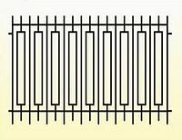 Металлические заборы вариант №6