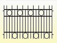 Металлические заборы вариант №13