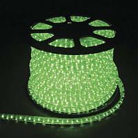 LED лента (дюралайт) 220V FERON 13мм верт. зеленый (36 led/m)