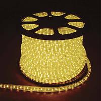 LED лента (дюралайт) 220V FERON 13мм верт. желтый (36 led/m)