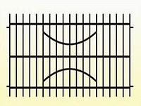 Металлические заборы вариант №16
