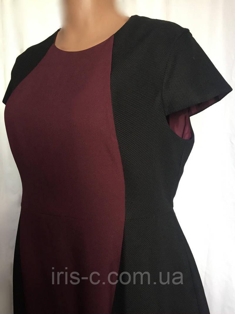 Платье женское, большой размер, офисный стиль, размер 54/56
