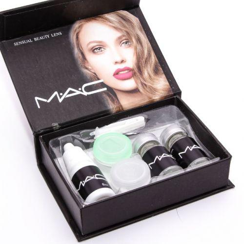 Цветные линзы косметические MAC Sea Gray (серого цвета)