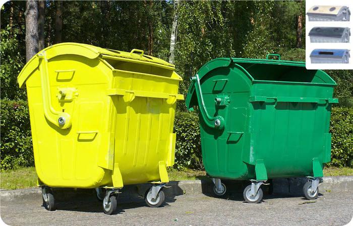 Контейнер для сбора мусора, бумага, стекло, пластмасс., фото 2