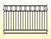 Металлические заборы вариант №20